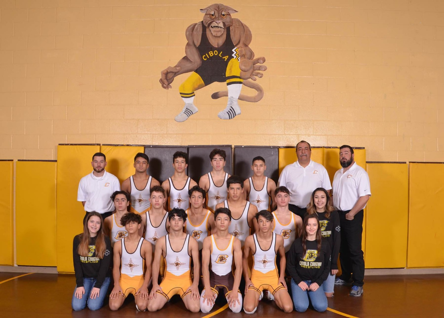 Group photo of wrestling team