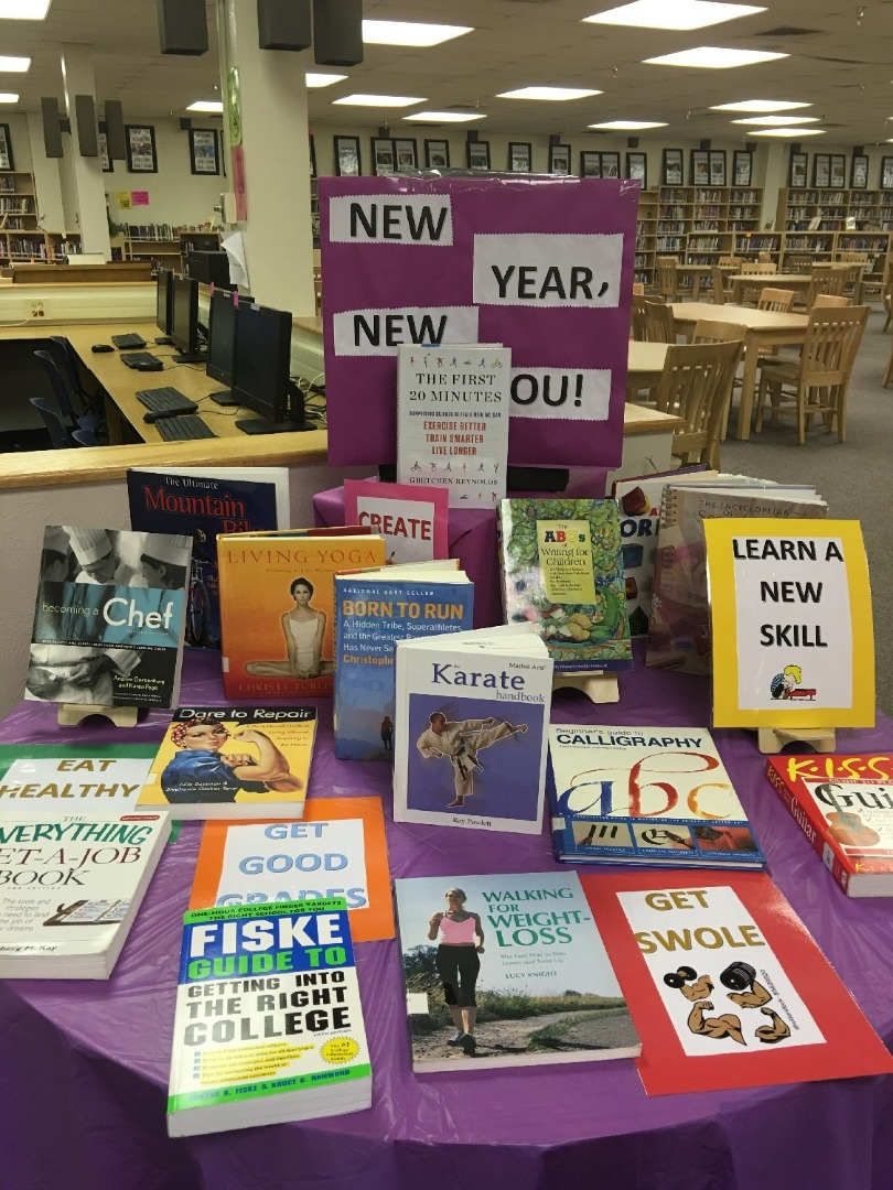 Book display in the library
